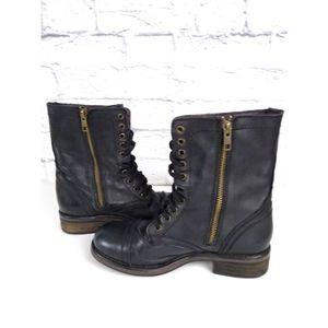 Steve Madden Tropa 2.0  Combat Boots Black 7.5